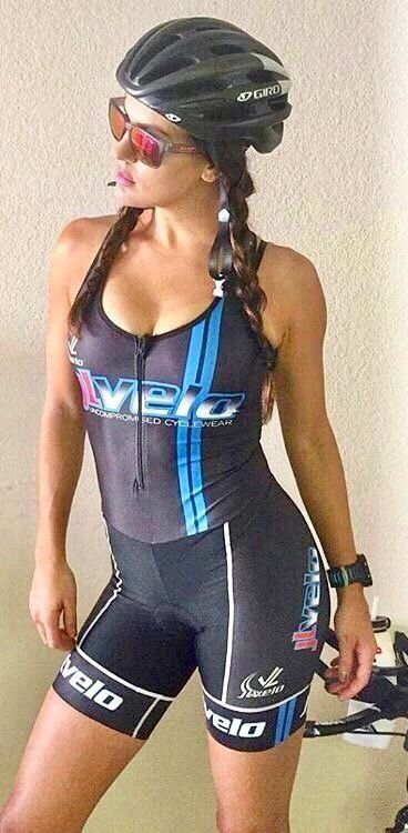 Short cycling bib hot women