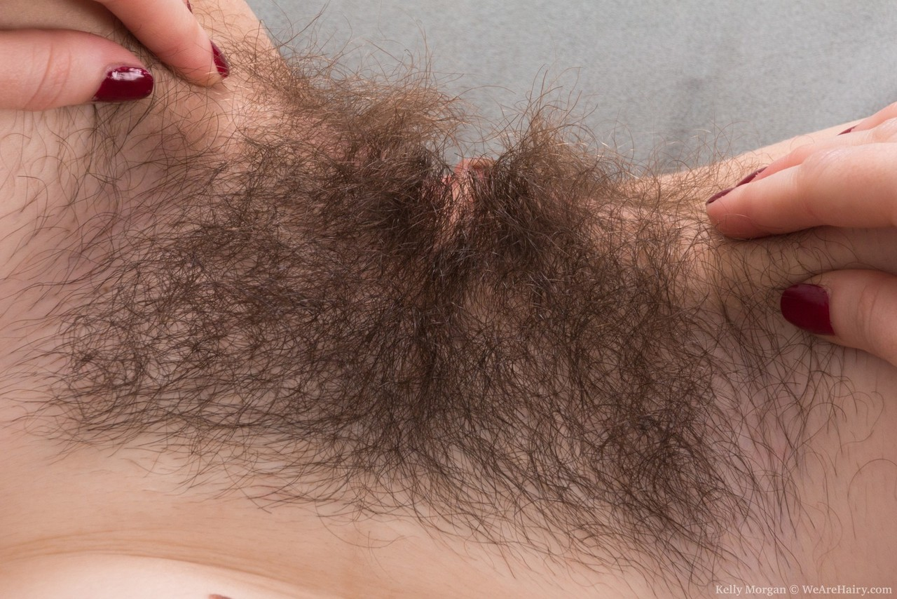 Close hairy up lips pussy
